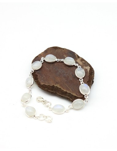 Bracelet argent et pierres blanches - Mosaik bijoux indiens
