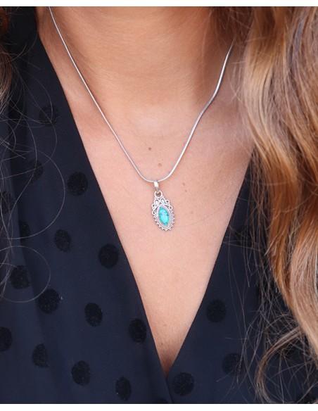 Pendentif turquoise - Mosaik bjoux indiens