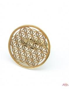 Bague fleur de vie dorée - Mosaik bijoux indiens