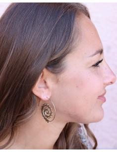 Créoles spirales en laiton doré - Mosaik bijoux indiens 2
