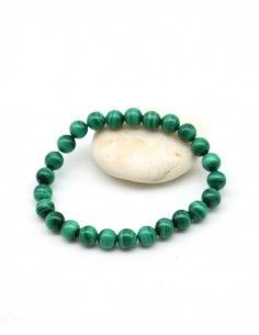 Bracelet malachites perles rondes - Mosaik bijoux indiens