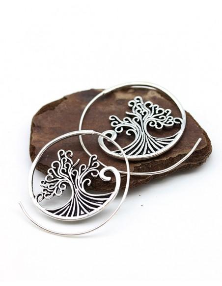 Boucles d'oreilles arbre de vie - Mosaik bijoux indiens