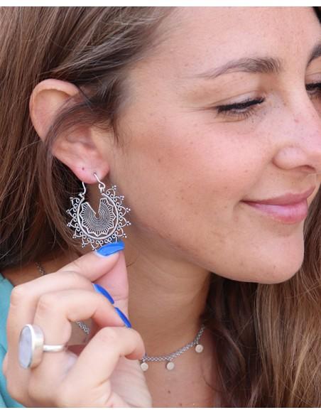 Boucles d'oreilles travaillées - Mosaik bijoux indiens