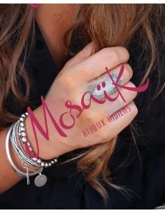 Grosse bague argent et pierre de lune - Mosaik bijoux indiens 2