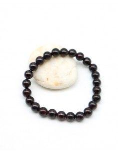 Bracelet grenat pierres rondes - Mosaik bijoux indiens