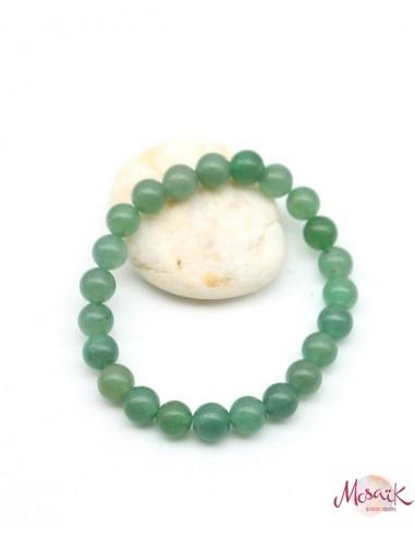 Bracelet jade perles rondes - Mosaik bijoux indiens