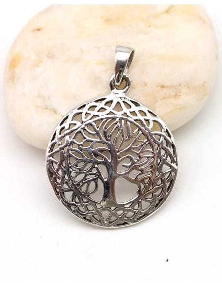 Pendentif arbre de vie argent - Mosaik bijoux indiens