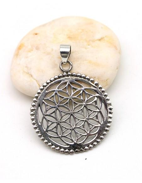Pendentif fleur de vie - Mosaik bijoux indiens