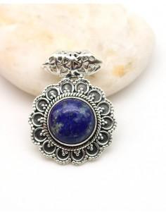 Pendentif lapis lazuli en argent - Mosaik bijoux indiens