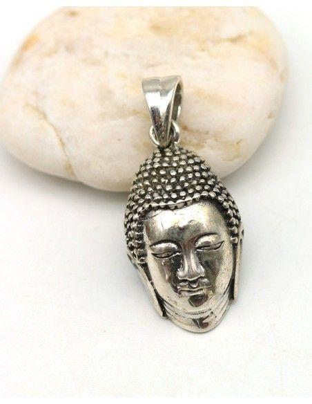 Pendentif tête de Bouddha argent - Mosaik bijoux indiens