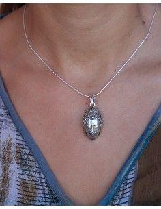 Pendentif tête de Bouddha argent - Mosaik bijoux indiens 2