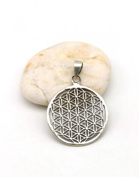 Pendentif fleur de vie argent - Mosaik bijoux indiens