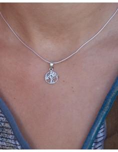 Pendentif arbre de vie rond en argent - Mosaik bijoux indiens 2