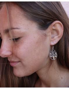 Boucles d'oreilles arbre de vie en argent - Mosaik bijoux indiens 2