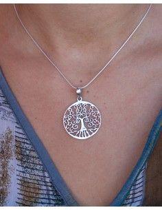 Pendentif arbre de vie argent - Mosaik bijoux indiens 2
