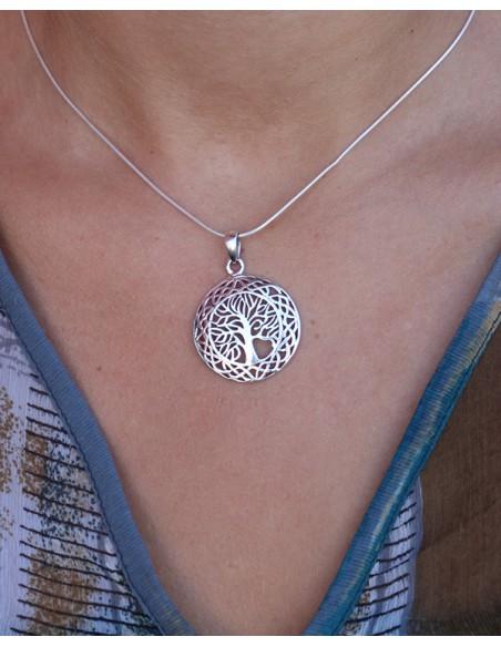 Pendentif argent arbre de vie - Mosaik bijoux indiens