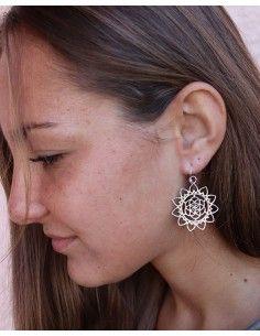 Boucles d'oreilles argent graine de vie - Mosaik bijoux indiens 2
