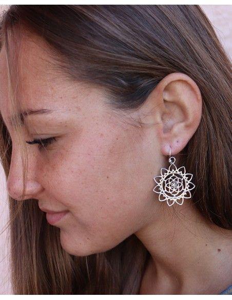 Boucle d'oreille graine de vie - Mosaik bijoux indiens