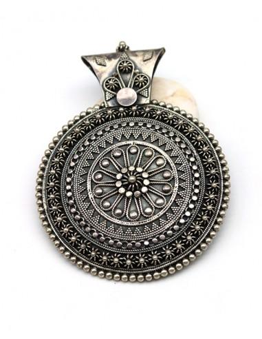 Gros pendentif ethnique argent - Mosaik bijoux indiens