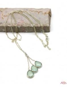 Collier argent et pierres bleues - Mosaik bijoux indiens