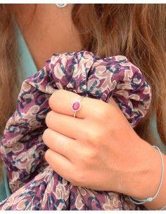 Bague fine et rubis indien - Mosaik bijoux indiens 2