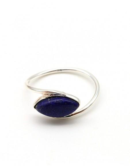 Bague fine et lapis lazuli - Mosaik bijoux indiens