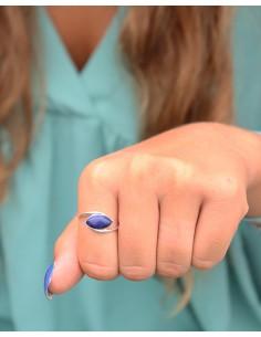 Bague fine et lapis lazuli - Mosaik bijoux indiens 2