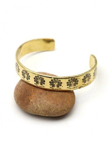 Bracelet laiton arbre de vie - Mosaik bijoux indiens