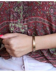 Bracelet fin doré - Mosaik bijoux indiens 2