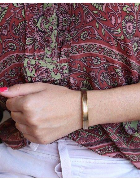 Bracelet doré en laiton - Mosaik bijoux indiens