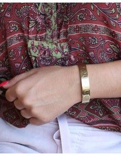 Bracelet laiton peace and love - Mosaik bijoux indiens 2