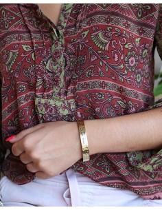 Demi jonc doré mantra indien - Mosaik bijoux indiens 2