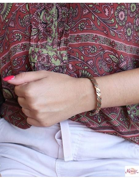 Bracelet cuivre et doré - Mosaik bijoux indiens