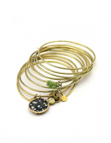 Joncs dorés en laiton - Mosaik bijoux indiens