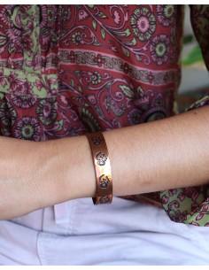 Bracelet fin en cuivre - Mosaik bijoux indiens 2