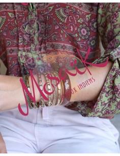Joncs dorés martelés -Mosaik bijoux indiens 2