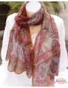 Foulard en soie coloré marron clair - Mosaik bijoux indiens