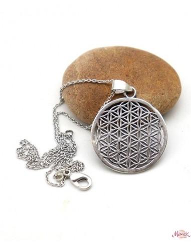 Collier pendentif fleur de vie - Mosaik bijoux indiens