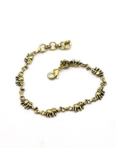 Bracelet éléphants - Mosaik bijoux indiens
