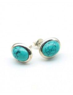 clou d'oreille turquoise - mosaik bijoux indiens