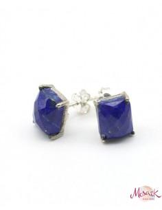 clou d'oreille lapis lazuli - Mosaik bijoux indiens