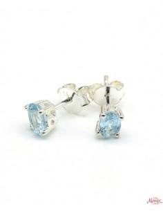 clou d'oreille topaze bleu - Mosaik bijoux indiens