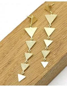 Boucles d'oreille 6 triangles - Mosaik bijoux indiens