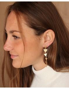Boucles d'oreille 6 triangles - Mosaik bijoux indiens 2