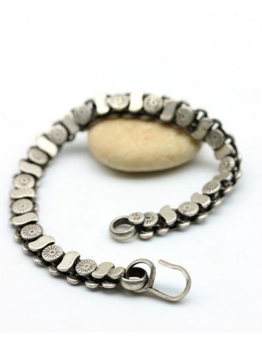 bracelet argent ethnique - Mosaik bijoux indiens