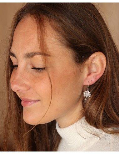 Boucle d'oreille arbre de vie - Mosaik bijoux indiens