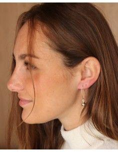 boucle d'oreille boule argent - Mosaik bijoux indiens 2