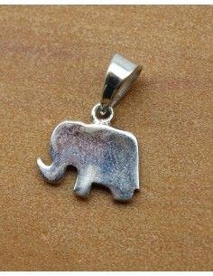 pendentif éléphant en argent - Mosaik bijoux indiens