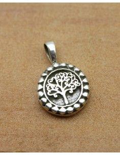 petit pendentif arbre de vie argent - Mosaik bijoux indiens