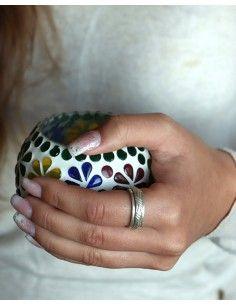 Bague argent antis-tress - Mosaik bijoux indiens 2